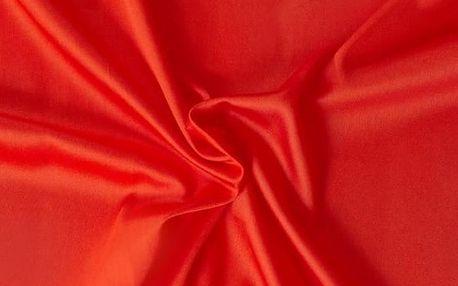 Kvalitex prostěradlo satén červené, 180 x 200 cm