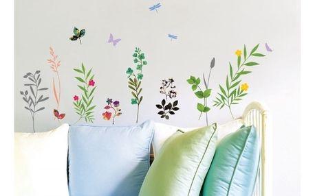 Samolepka Ambiance Grass and Butterflies