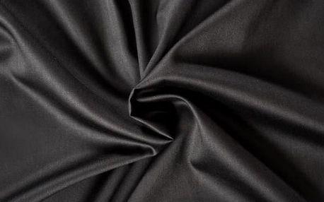 Kvalitex prostěradlo satén černé, 140 x 200 cm