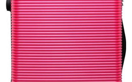 Dámský velký růžový kufr na kolečkách Travel 6676