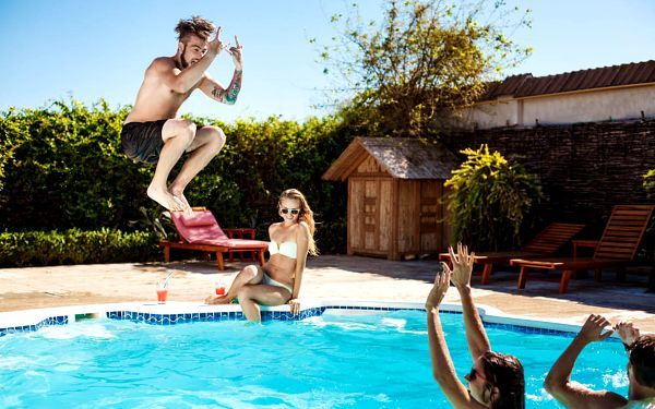 Chalupy s bazénem