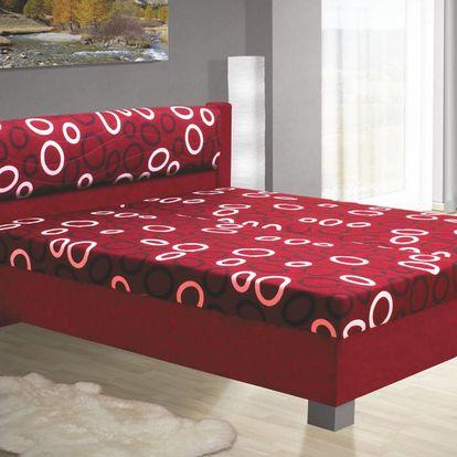 Čalouněná postel NIKOL 140cm vč. roštu, matrace a ÚP
