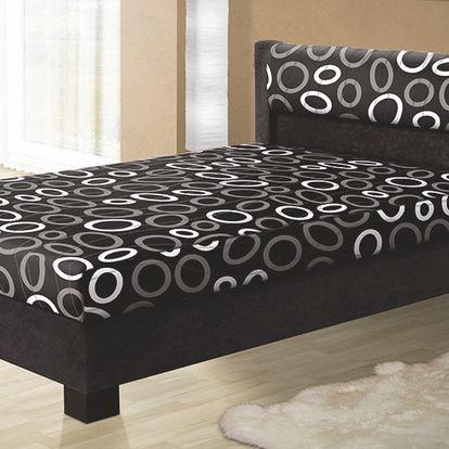 Čalouněná postel ALICIE 180 cm vč. roštu, matrace a ÚP