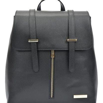 Černý kožený batoh Sofia Cardoni Sky