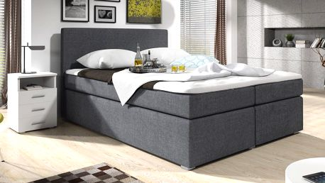 Zvýšená postel SAM 180 cm vč. roštu, matrace a ÚP