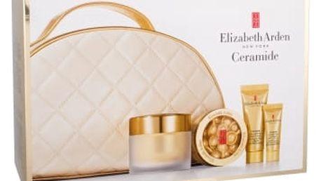 Elizabeth Arden Ceramide Lift And Firm SPF30 dárková kazeta proti vráskám pro ženy denní pleťová péče SPF30 50 ml + pleťové sérum v kapslích 14 ks + noční pleťová péče 15 ml + péče o oční okolí 5 ml + kosmetická taška