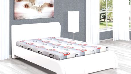 Manželská postel DUNAJ 200x180 vč. roštu, matrace