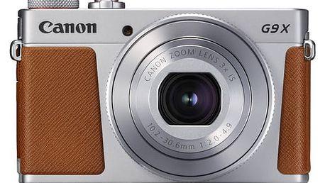 Digitální fotoaparát Canon PowerShot G9 X Mark II Silver (1718C002) stříbrný Pouzdro na foto/video Canon DCC-1890 - pro PowerShot G9X/G9X MII černé v hodnotě 749 Kč + DOPRAVA ZDARMA