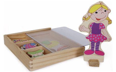 Dřevěná magnetická oblékací panenka Legler Ramona
