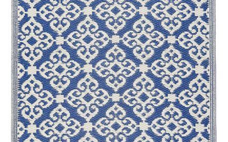 IB LAURSEN Plastový koberec Recykled Blue 90x180, modrá barva, plast
