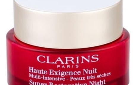 Clarins Super Restorative Night 50 ml noční pleťový krém proti vráskám pro ženy