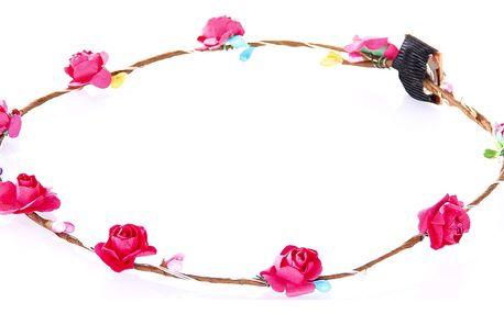 Fashion Icon Čelenka do vlasů - květinový věneček drobné svítící