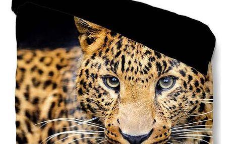 Povlečení na jednolůžko Muller Textiels Pure Wild Leopard, 140 x 200cm