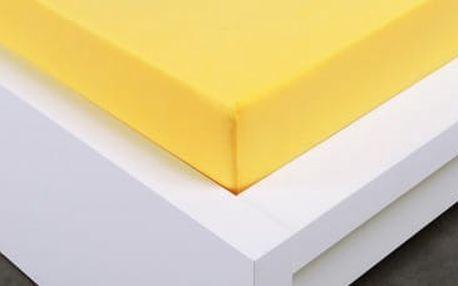 XPOSE ® Jersey prostěradlo Exclusive dvoulůžko - žlutá 160x200 cm