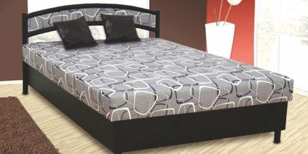 Čalouněná postel NIKOLA 140x200 cm vč. roštu, matrace a ÚP