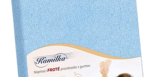 Bellatex Froté prostěradlo Kamilka světle modrá, 140 x 200 cm