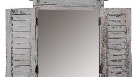 Šedé zrcadlo Mendler Shabby