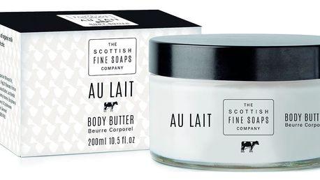 SCOTTISH FINE SOAPS Tělové máslo ve skleněné dóze AU LAIT, černá barva, bílá barva