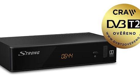 DVB-T2 přijímač Strong SRT 8211 černý (SRT8211)