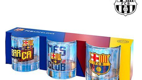 Panákové Skleničky FC Barcelona 3 kusy