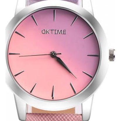 Dámské hodinky v pastelových ombré barvách