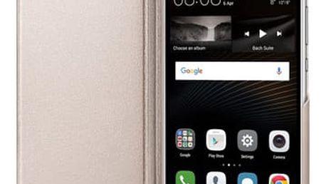 Pouzdro na mobil flipové Huawei P9 Lite Flip Cover zlaté (51991528)