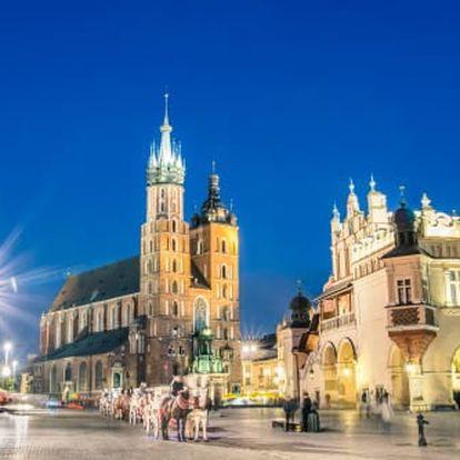 Pobyt v Krakově pro dva v 3* hotelu s bohatými snídaněmi, bazénem i saunou