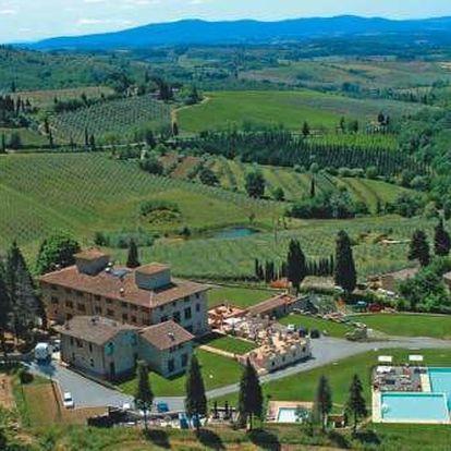 Nádherný pobyt v Toskánsku v romantické vile uprostřed vinic. Dítě zdarma!