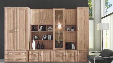 Dřevěná obývací stěna BORIS