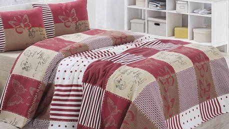 Lehký přehoz přes postel Butterly, 160x230cm