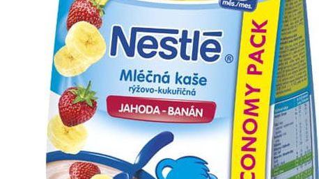 6x NESTLÉ Mléčná kaše jahoda-banán (300 g)