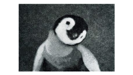Šedá rohožka Mint Rugs StateMat Penguin,50x75cm