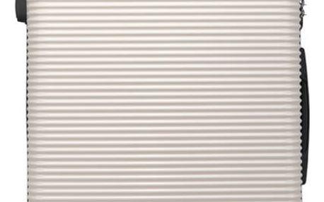 Dámský střední černobílý kufr na kolečkách Travel 6676
