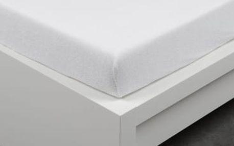 XPOSE ® Bambusové froté prostěradlo dvoulůžko - bílá 180x200 cm