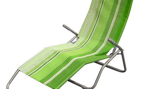 Happy Green Plážové lehátko, světle zelené