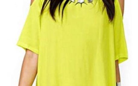 Dámské šaty s průstřihy na ramenou - 7 barev
