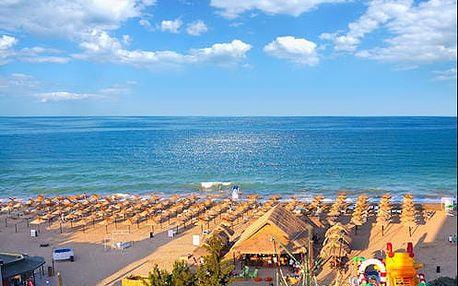 Týden v Bulharsku na Slunečném pobřeží v hotelu s klimatizací, bazénem jen 100 m od moře