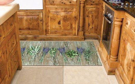 Vysoce odolný kuchyňský koberec Webtappeti Lavender,60x140cm