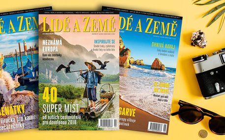 Roční předplatné časopisu Lidé a Země