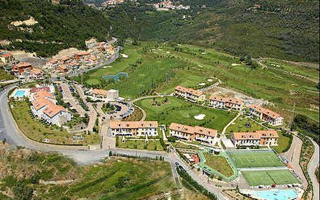 4 dny relaxu v italské Ligurii v komfortním sportovním 4* resortu v nádherném prostředí