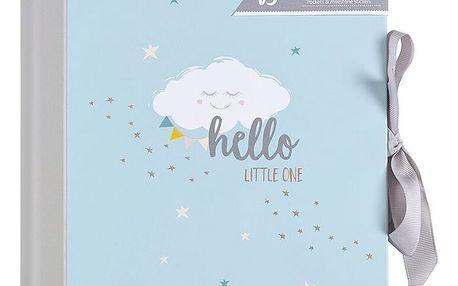 Modrý deník miminka BusyB