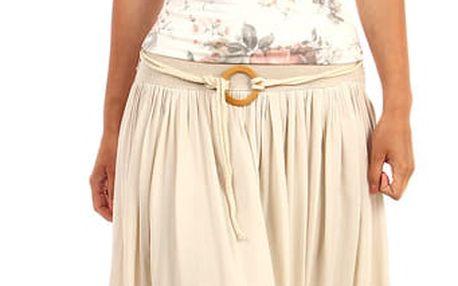 Romantická dámská maxi sukně tyrkysová
