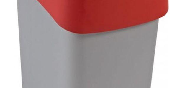 CURVER FLIPBIN 31355 Odpadkový koš 25l - červená
