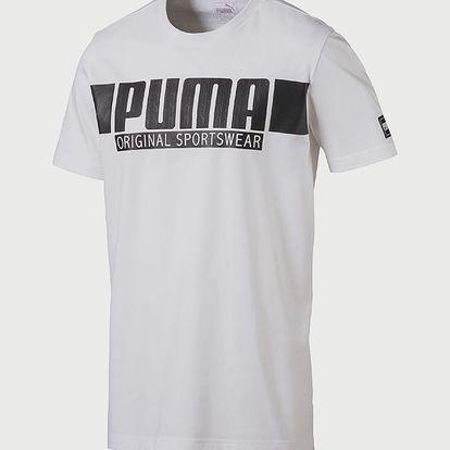 Tričko Puma STYLE Athletics Graphic Tee Bílá