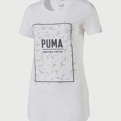 Tričko Puma FUSION Graphic Tee Bílá