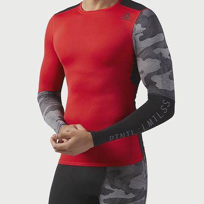 Kompresní tričko Reebok Ac Graphic Ls Comp Tee Červená
