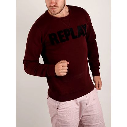 Mikina Replay M3436A Sweatshirt Červená