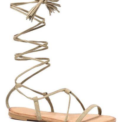 Dámské béžové sandály Tiara 6009