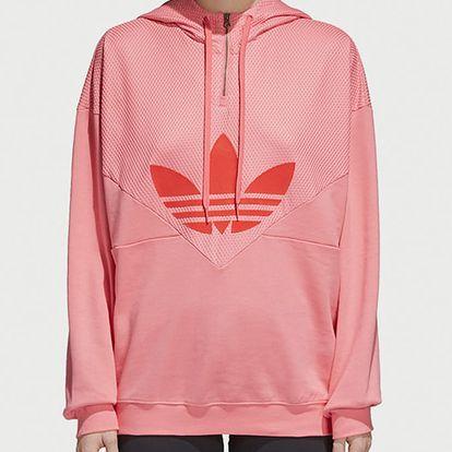 Mikina adidas Originals Clrdo Sweathood Růžová