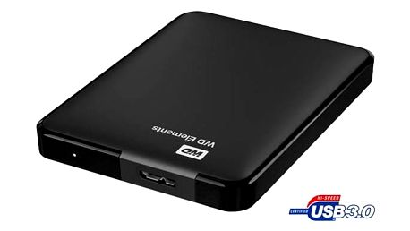 Western Digital Elements Portable 1TB (WDBUZG0010BBK-WESN) černý